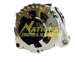 250XP High Amp Corvette Alternator Natural Finish - 1997 - 2010 Chevrolet C5 and C6 Corvette (Lester 13968)