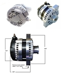 7127-MF-200 200 Amp High Output Alternator for Early Chevy Blazer, S-10, GMC Jimmy, S-15, and Suburban