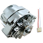 NEW CHROME 110 AMP ALTERNATOR WITH REGULATOR PLUG FOR GM ENGINE 1965-1985 AND MANY OTHER APPLICATIONS